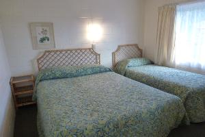 One Bedroom Unit, showing Queen and single bed