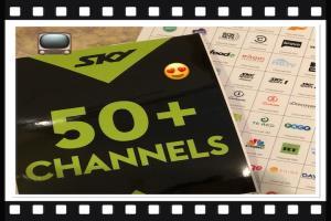 50+ Channels of Sky