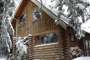 Pokaka lodge in winter